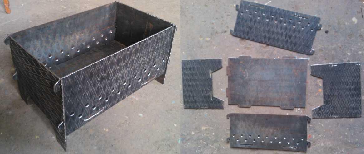 Делаем мангалы из металла своими руками: фото, размеры, чертежи