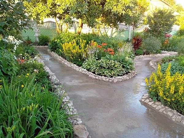 Садовые дорожки своими руками на даче дешево и красиво