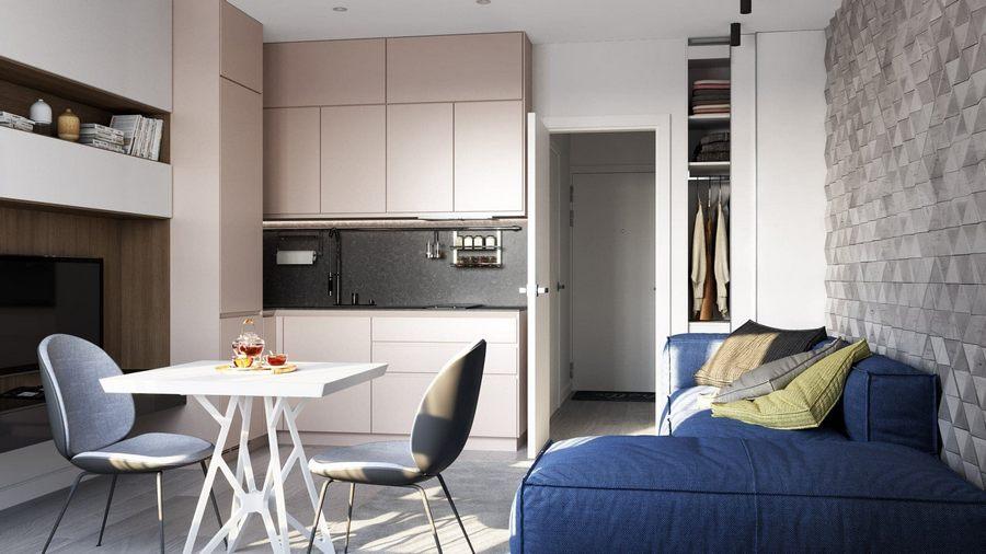 Дизайн квартиры-студии: актуальные идеи ремонта, красивые интерьеры + фото