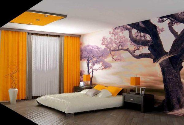 Какие обои выбрать в спальню - рекомендации, какой лучше подобрать цвет и материал обоев