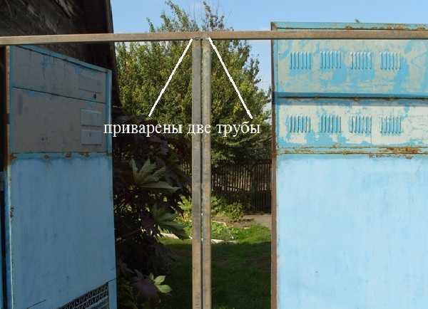 Ворота из профнастила своими руками – как сделать распашные ворота из профлиста с калиткой, изготовление и установка   фото-видео