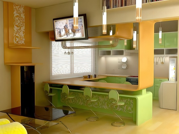 Барная стойка для кухни: варианты, размеры, чертежи, дизайн + фото