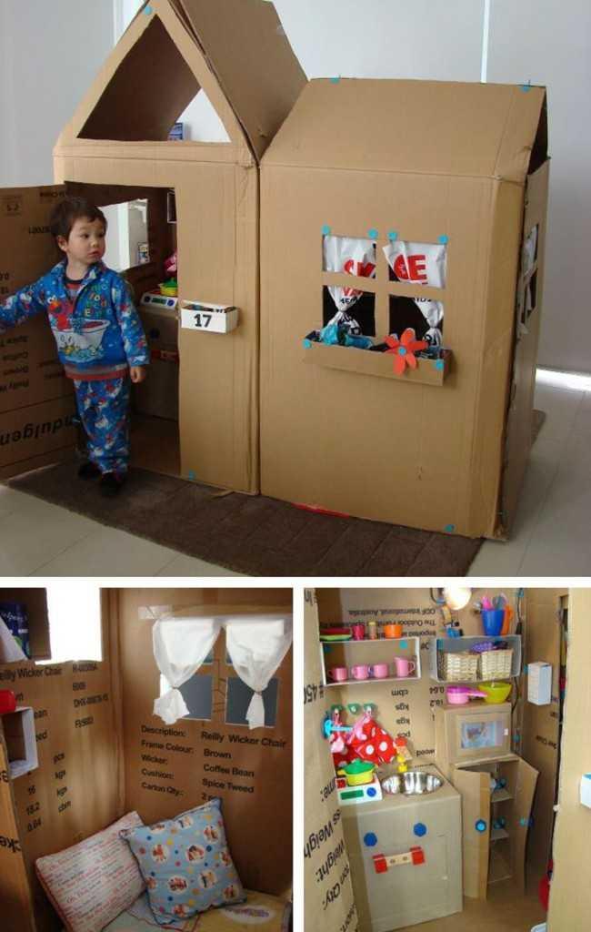 Домики для детей в квартиру: как сделать своими руками