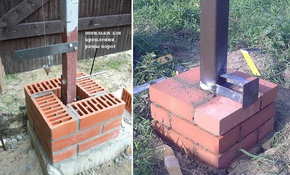 Кладка столбов из кирпича: технология, ошибки, фото, видео