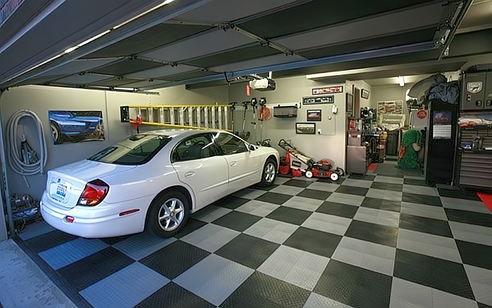 Покрытие пола в гараже: виды, характеристики, способы укладки