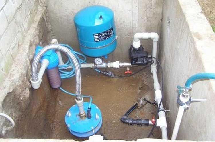 Схема подключения гидроаккумулятора к насосу и системе водоснабжения своими руками: как подключить, установить + фото
