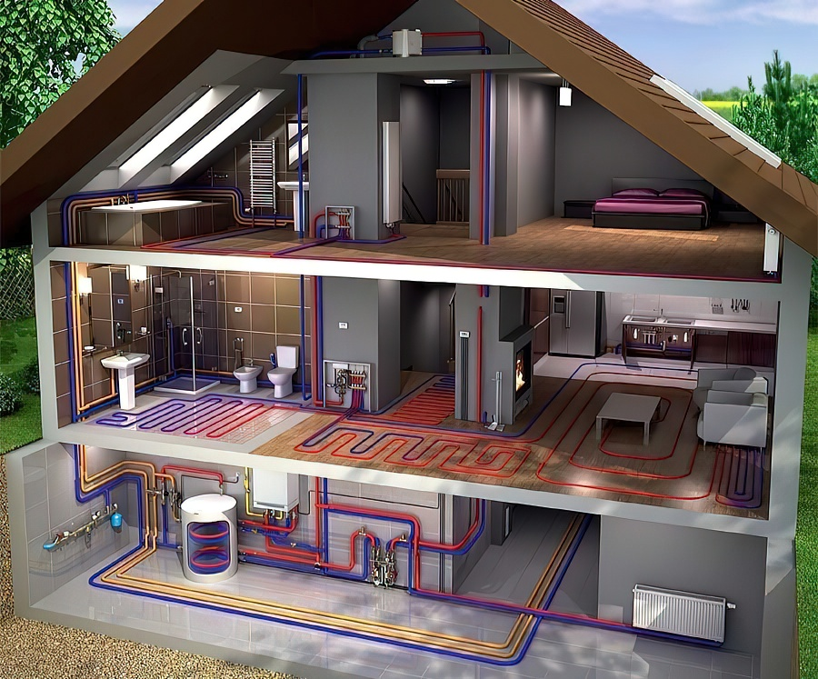 Отопление частного дома своими руками: схемы систем отопления, монтаж