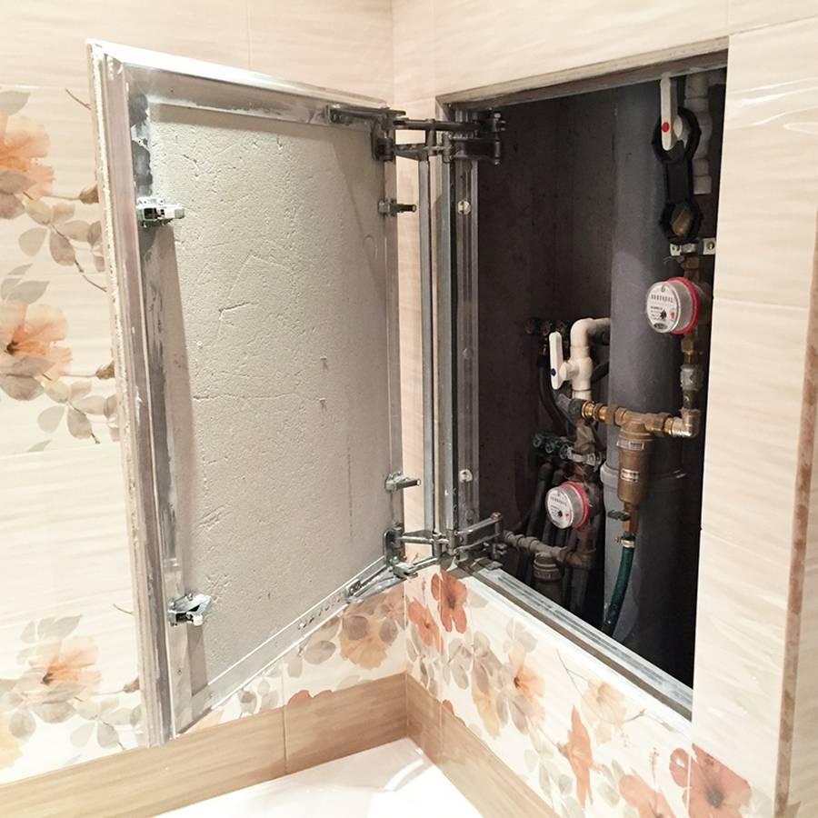 Как закрыть трубы в туалете: выбор материала, варианты реализации, особенности + фото