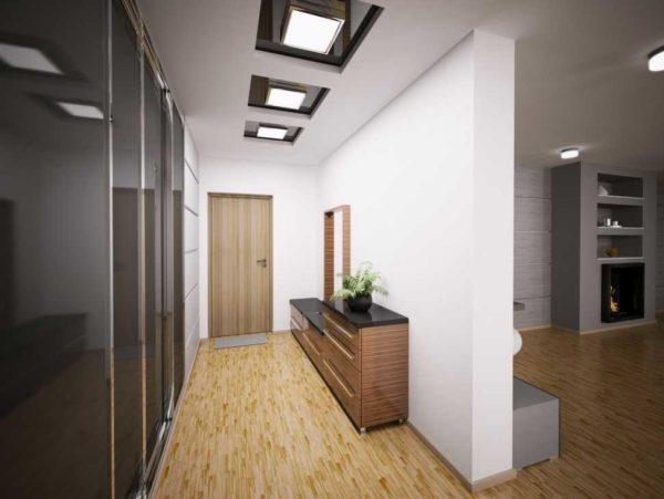 Расположение светильников на натяжном потолке: схемы и примеры (100+ фото)