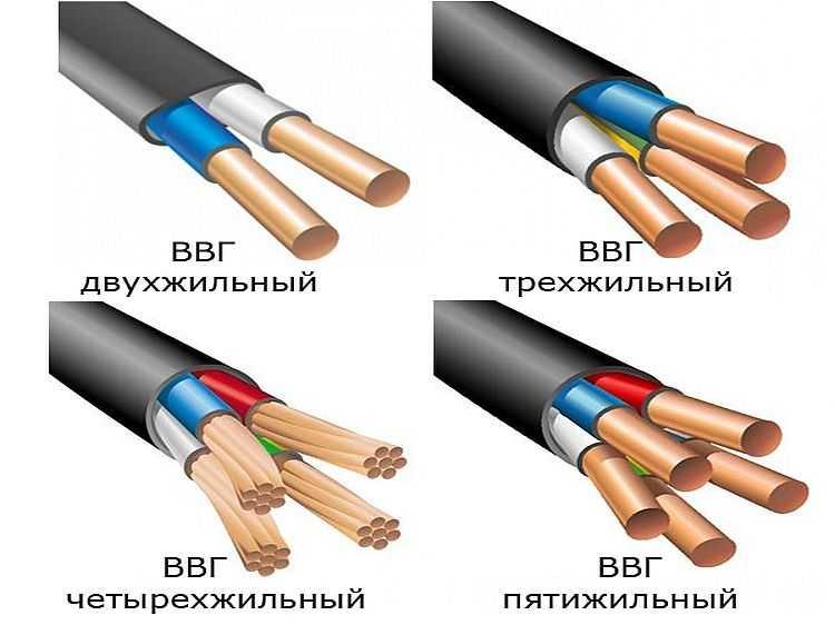 Кабель ВВГ: виды технические характеристики (нг ls fr) + фото