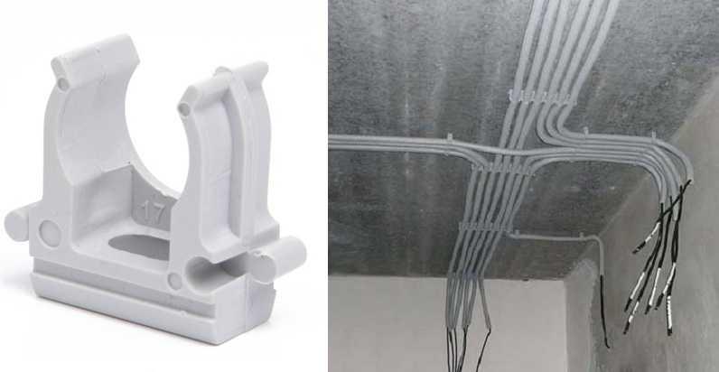 Способы крепления проводов и кабелей: к стене, потолку, столбу, трубе, тросу
