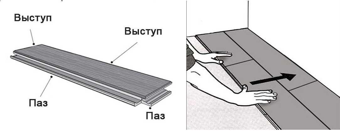 Плитка ПВХ для пола: виды плюсы минусы укладка + фото