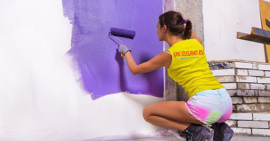 Покраска стен на кухне: как красить кухонные стены, пошаговое руководство для начинающих + (50 фото)