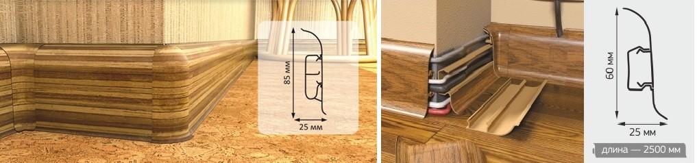 Длина плинтуса напольного пластикового: размеры и монтаж своими руками