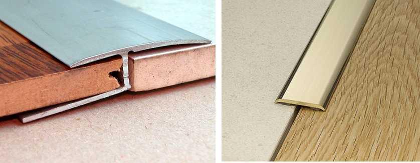 Стык плитки и ламината: варианты и способы оформления - (фото видео)