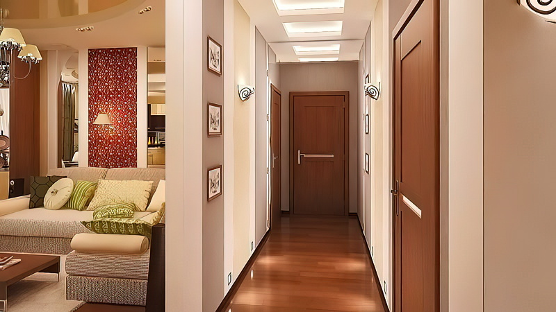 Освещение в прихожей и корридоре: светильники, люстры, бра