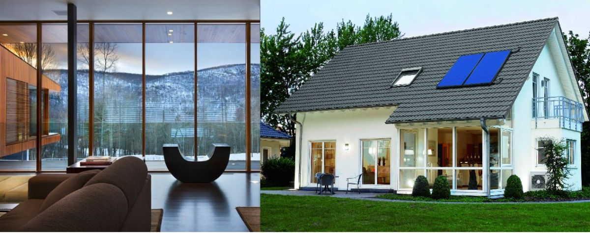 Панорамные окна в частном доме: конструкция остекления, фото, дизайн, установка