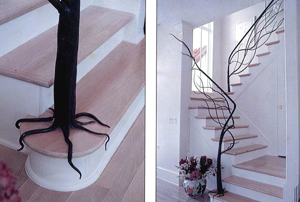 50 лучших идей: перила и поручни для лестницы (фото + видео)