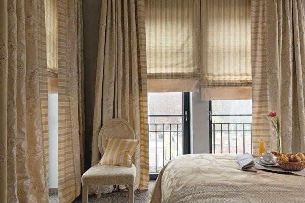 Римские шторы в интерьере: 50 фото с идеями