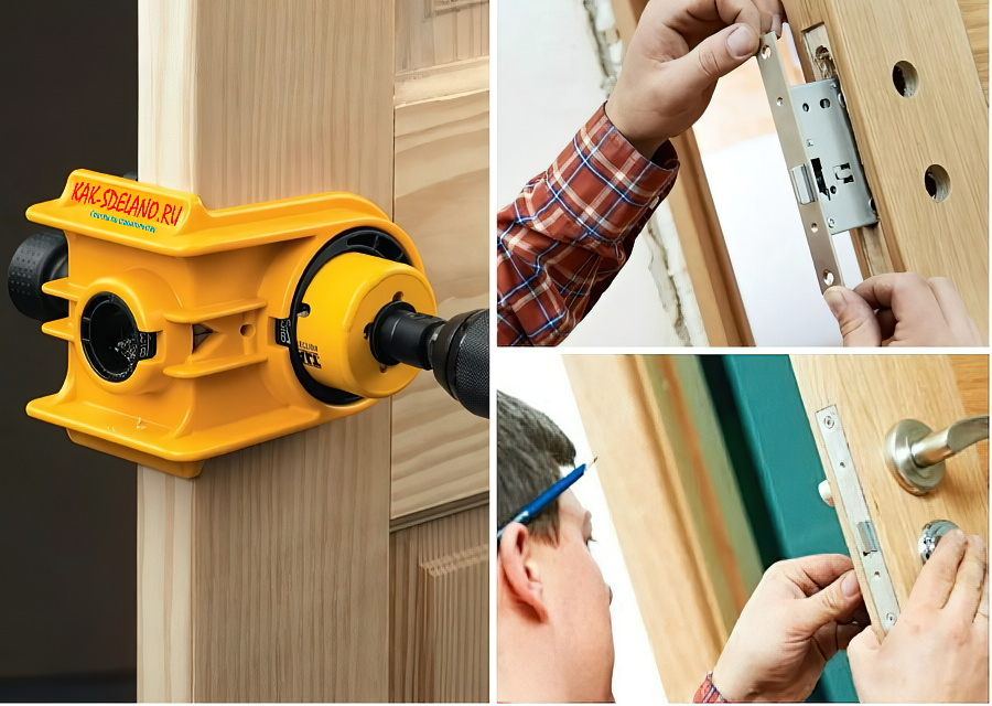 Как врезать замок в межкомнатную дверь: деревянную, МДФ + пошаговая инструкция