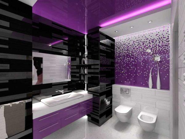 Фиолетовый цвет в интерьере. Сочетания цветов