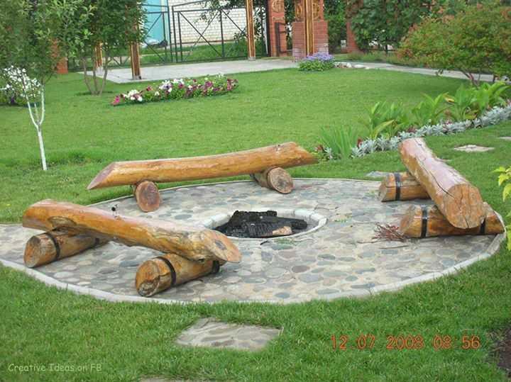 Очаг для костра своими руками: из бетона, кирпича, камня, пошаговые инструкции (фото)