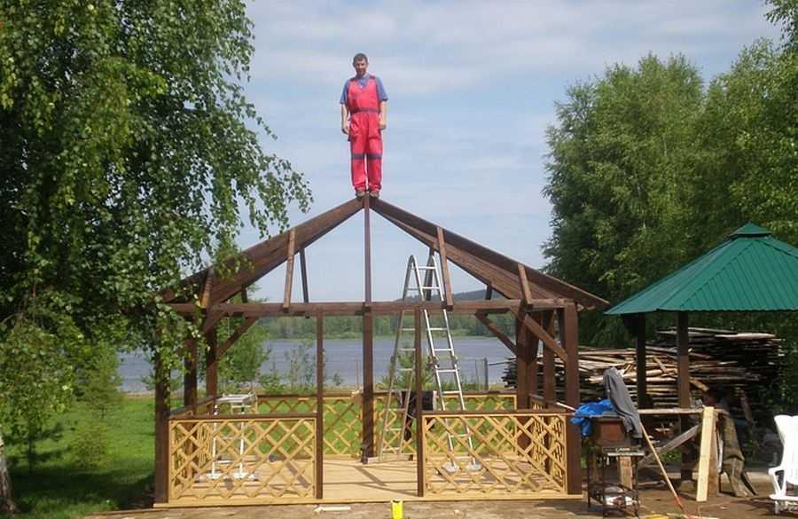 Стропильная система четырехскатной крыши: вальмовой шатровой + фото