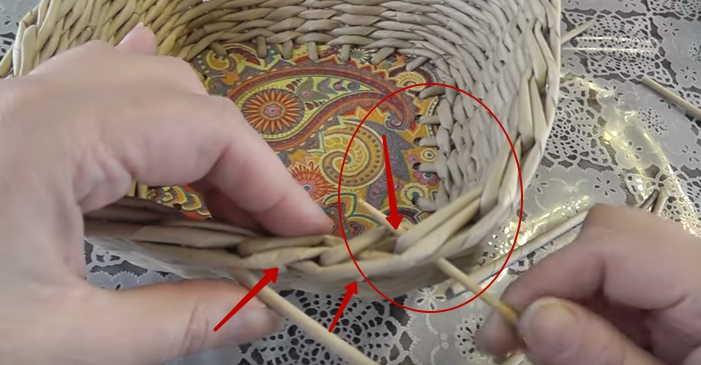 Плетение из газетных трубочек для начинающих: пошаговые фото + видео