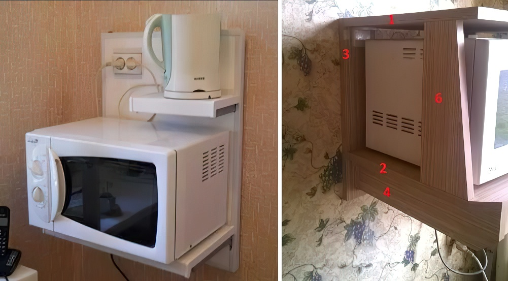 Крепление для микроволновки на стену: виды, правила установки, изготовление своими руками