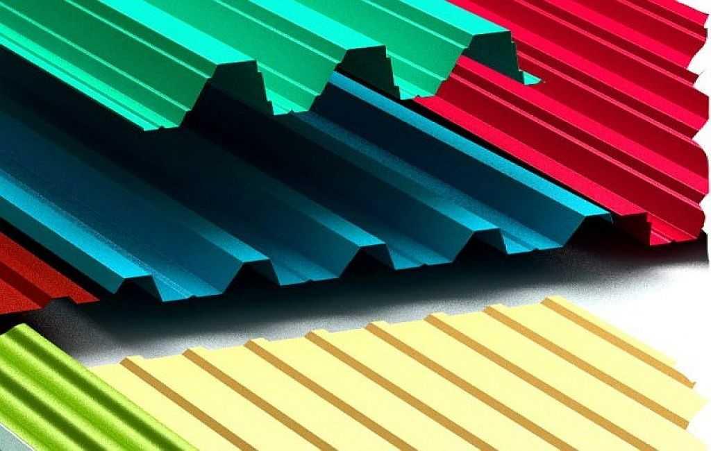 Размеры профнастила для крыши, длина и ширина листа