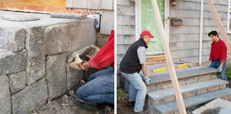 Как сделать крыльцо в частном доме своими руками: (60+ фото)