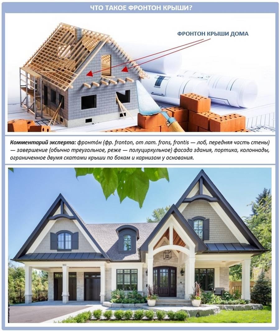 Фронтон крыши - деревянный фронтон отделка фронтона + мансардной крыши частного дома