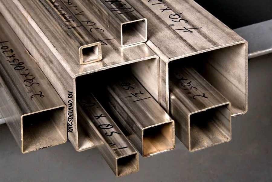Профильная труба: размеры толщина стенки вес + технические характеристики