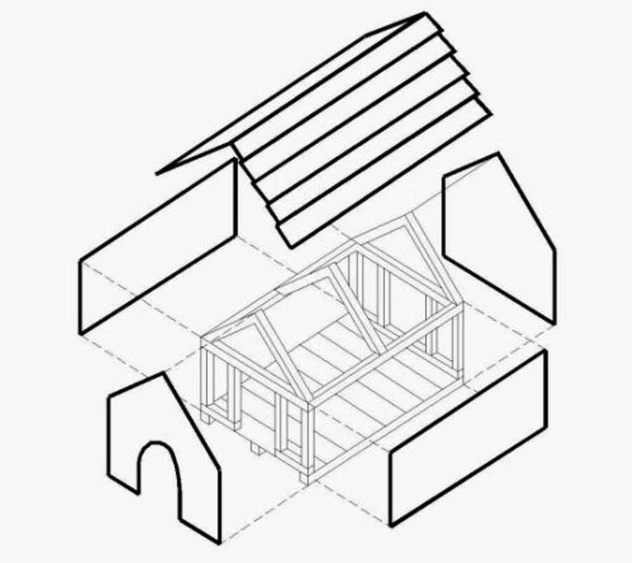 Будка для собаки своими руками: чертежи - схемы, подробная инструкция - как сделать теплую конуру, чем утеплить, как построить крепкий дом на зиму + фото