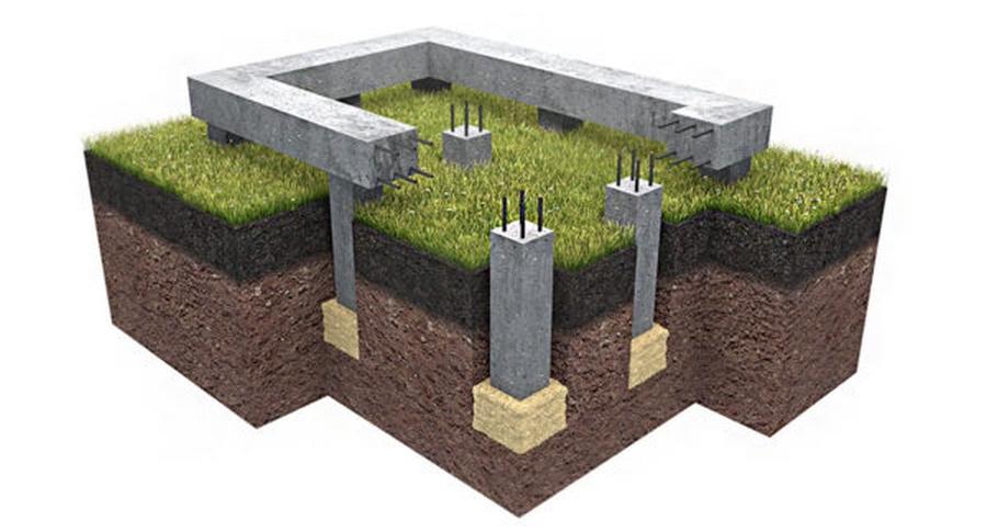 Фундамент для двухэтажного дома: какой выбрать, расчеты глубины + толщины