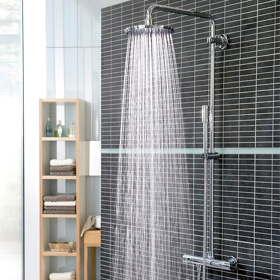 Тропический душ для ванной: виды, конструкция + установка