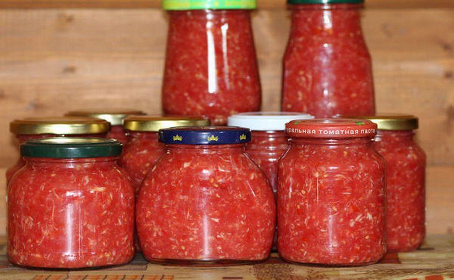 Хреновина с помидорами и чесноком на зиму: топ 10 классических рецептов приготовления